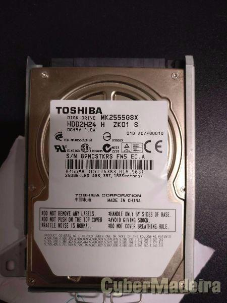 Disco toshiba 2.5 250GB