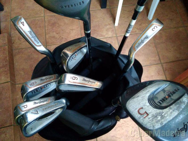 Conjunto de tacos de golfe macgregor dunlop donnay