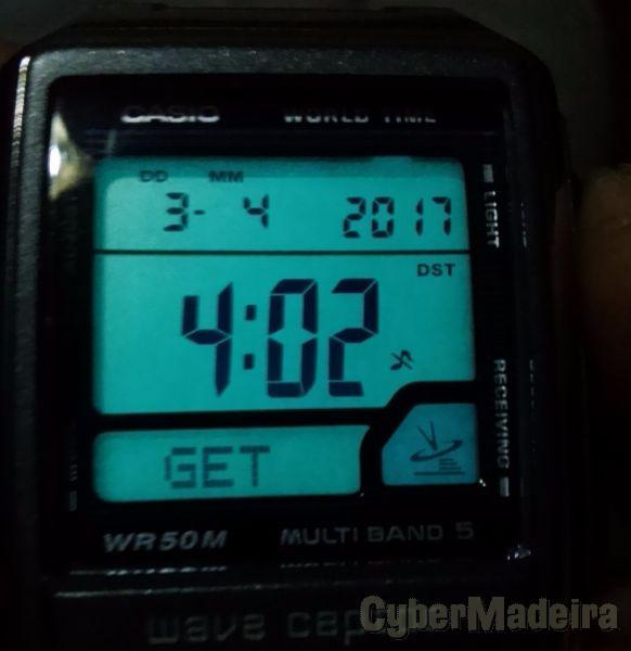 Relogio casio wave captor 3053 - radio controled em estado de novo