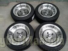 """Jbw OS4 turbo 13X7 4X100 4X98 13"""" com pneus"""