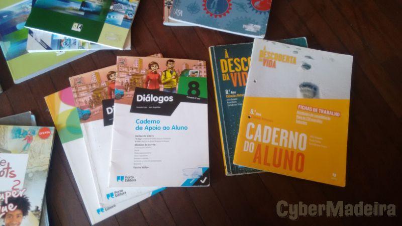 Livros 8 ano escola Bartolomeu Perestrelo8º Ciências Naturais
