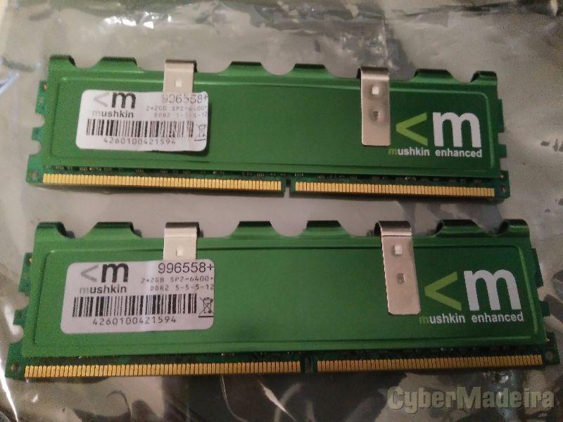 Mushkin kit 4GB  2X2GB  ram DDR2 - 800MHZ PC6400
