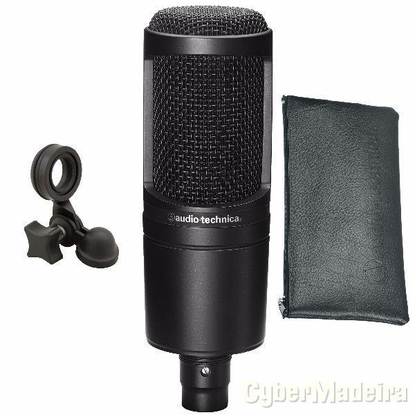 Microfone condensador profissional audio technica AT2020