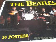 Posters dos beatles E dos rolling stones