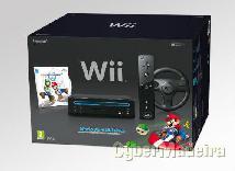 Wii preta + comando + jogos + volante supermario + wiiboard