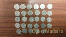 Coleção completa moedas de 50 centavos alpaca