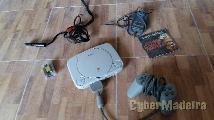 Consola PS1 cabos comando cartao de memoria E jogos