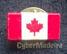 Pin com A bandeira do canadá