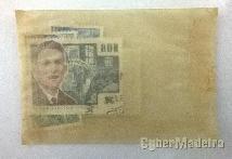 Conjunto de selos postais da rda