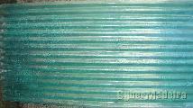 Chapa ondulada em fibra verde E branco 2 50 mt x 1 15 mt.