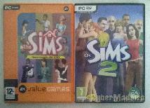 Pack de dois jogos the sims para pc