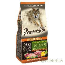 Primordial cão adulto veado E peru 12KG sem cereais