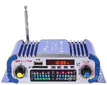 Auto amplificador hi-fi stereo usb sd dvd fm com led