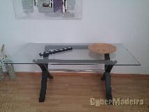 Mesa tampo em vidro