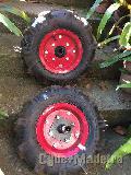 Rodas+enxada  tipo charrua  para mini tractor motoenxada