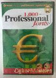 Cd-rom 1000 professional fonts
