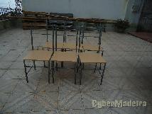 Cadeiras de cozinha conjunto de 6