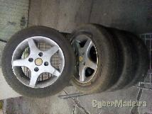"""Jantes 4 110 13"""" com pneus"""