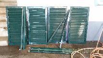 4 tapassois de alumínio verde 119.7 cm por 57CM