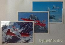 Conjunto de postais da força aérea suíça