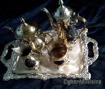 Conjunto de chá E café em casquinha