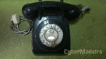Telefone antigo de disco original ctt 1980