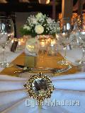 43 anéis para guardanapos dourados com brilhante