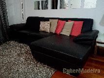 Sofá preto de qualidade