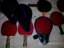 Raquetes de ténis de mesa oficiais em bom estado