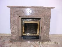 Lareira de mármore E aquecedor eléctrico