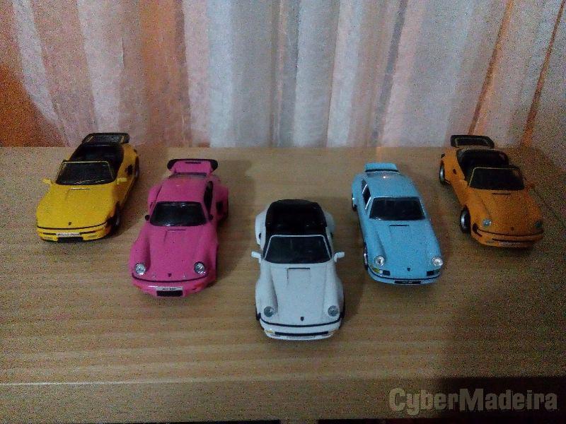 Coleção de 5 miniaturas porsche