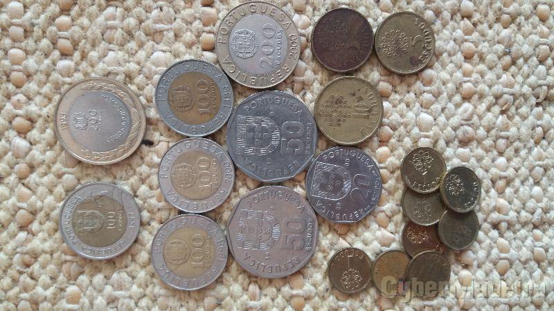 Conjunto de moedas de escudos  incluí 2 comemorativas