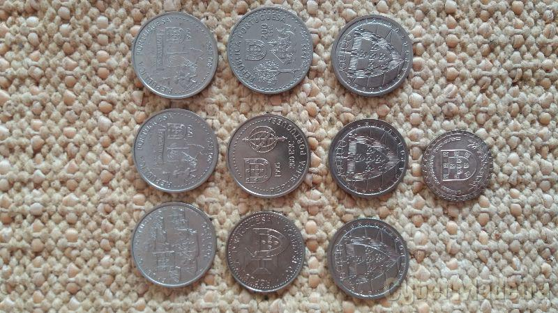 Conjunto de moedas comemorativas 100ESC E 200ESC