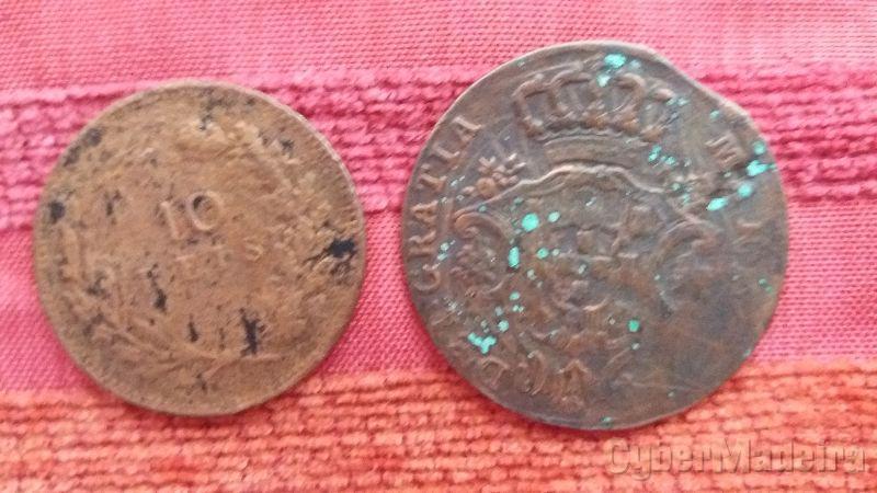 2 moedas portuguesas muito antigas