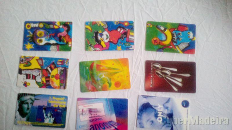 lotes 9 credifone cartão telefónicos 1 euro