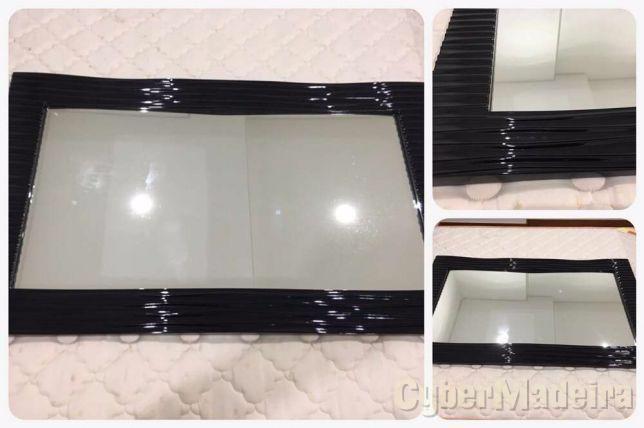 Espelho preto lacado - como novo