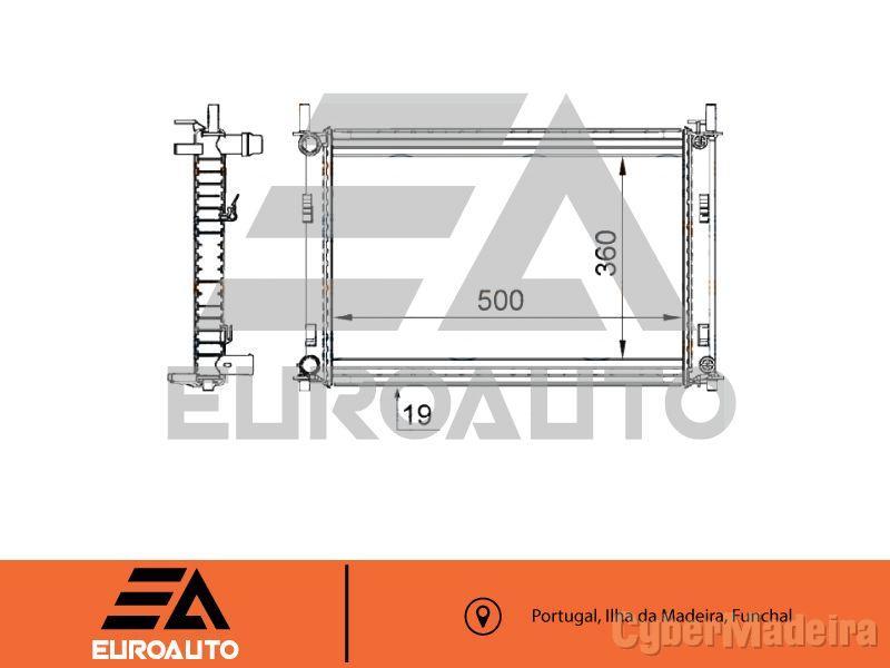 Radiador Fiesta 02 - 1.3 com ar condicionado