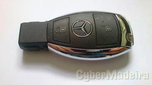 Chave Capa Carcaça 2 botões Mercedes NEC2