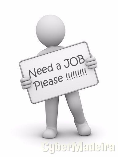 Rapaz procura trabalho