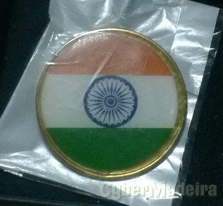 Pin com a bandeira da República da Índia