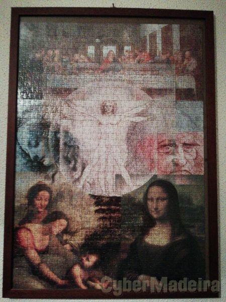 Puzzle emoldurado - Leonardo Da Vinci