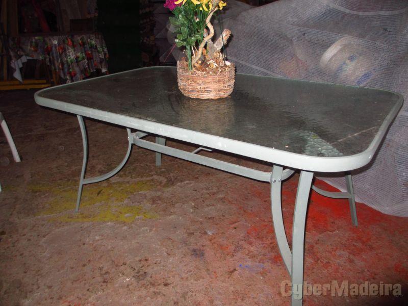 Mesa de jardim em aluminio