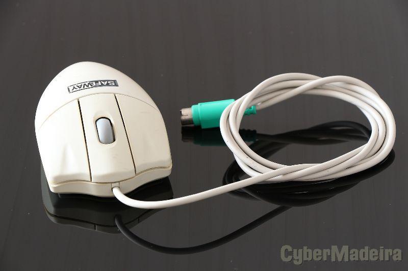 Rato SafeWay com ficha PS/2 - branco