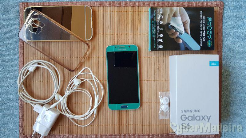 Samsung galaxy S6 azul topaz 32GB - novo - desbloqueado - garantia - fatura
