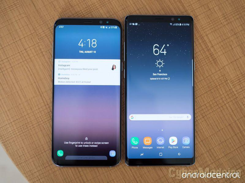 Samsung note 8 - midnight black SM-N950F