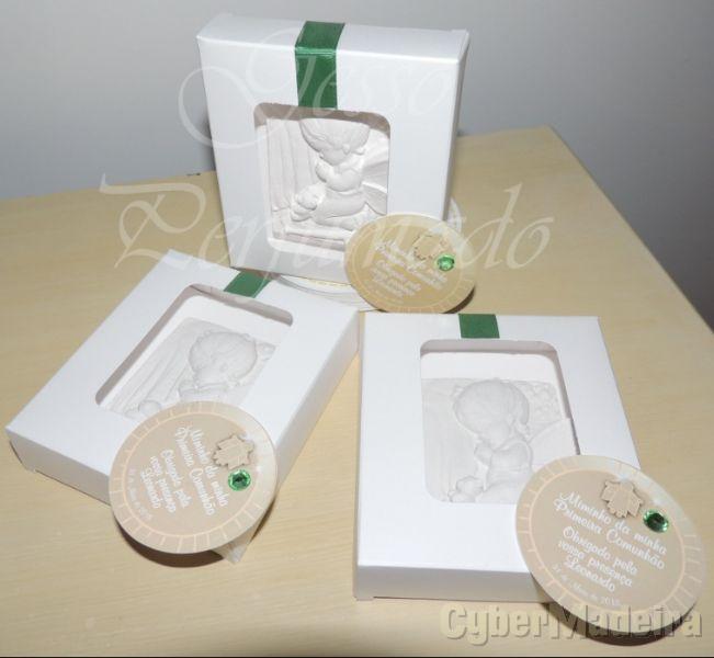 Gesso Perfumado Batizado Batismo Comunhão Lembrança baby shower brinde