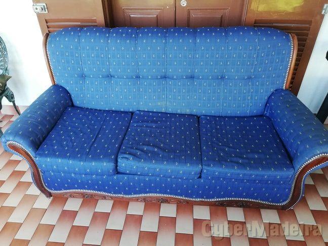 Sofás azuis tecido azul