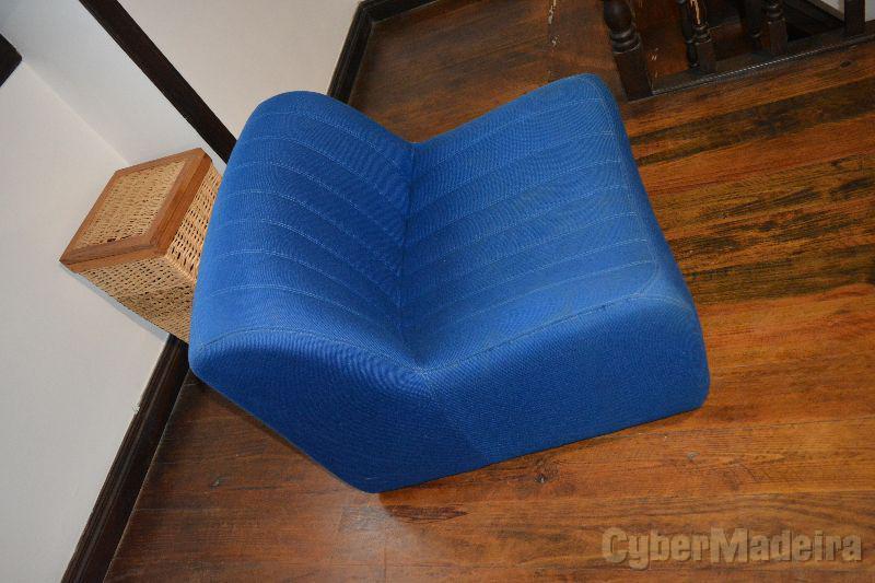 Poltrona  cadeira  sofá singular azul