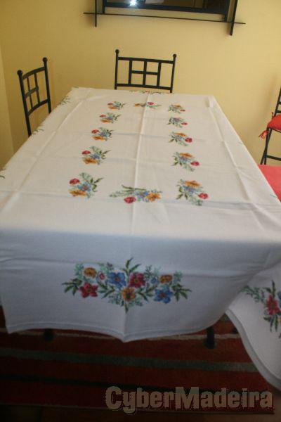 toalhas de sala de jantar em ponto cruz