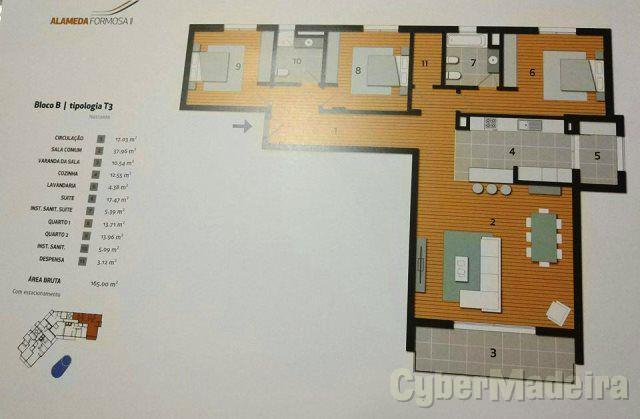 Apartamento T3 para Venda São Martinho, Piornais